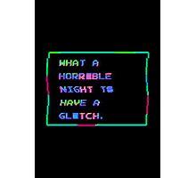 Horrible Glitchy Night Photographic Print