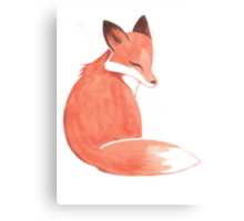Watercolor Fox Canvas Print