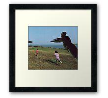 M Blackwell - Run Beckie Run! Framed Print