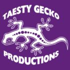 Taesty Gecko Production little white logo front chest by taestygecko