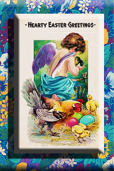 EASTER ~ CHERUB AND CHICKS by Tammera