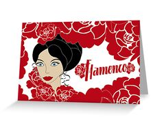 Vintage poster Flamenco Greeting Card