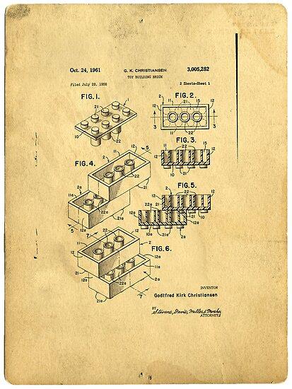 Lego Patent by Edward Fielding