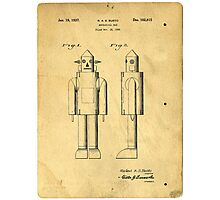 Mechanical Man Patent Photographic Print