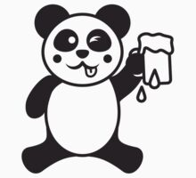 Funny Beer Drinking Panda by Style-O-Mat