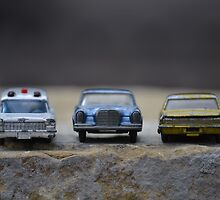 Three vintage toy Matchbox cars by wittieb