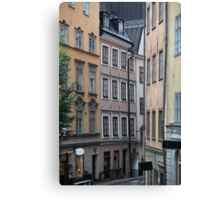 street in old town Canvas Print