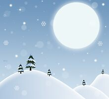 Winter Snow Scene by perkinsdesigns
