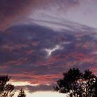 Turbulent Purple Sunset by Gene Walls