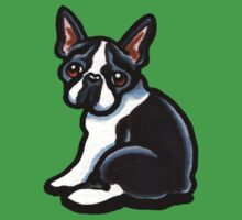 Cute Boston Terrier by offleashart