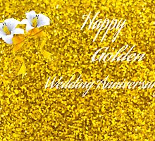 Happy Golden Wedding Anniversary by Linda Miller Gesualdo