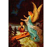 Heiliger Schutzengel  Guardian Angel 11 oil Photographic Print