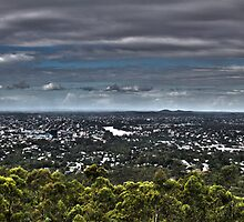 Brisbane from Mt Coot Tha by Ali Choudhry