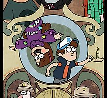 Gravity Falls Art Nouveau by emuhleeks