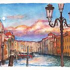Sunset on the Grand Canal in Venice by Dai Wynn