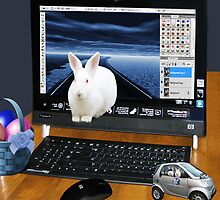 ❤‿❤ COMPUTER BUNNY HOPPING OUT TO SAY HAPPY EASTER TO ALL❤‿❤ by ╰⊰✿ℒᵒᶹᵉ Bonita✿⊱╮ Lalonde✿⊱╮