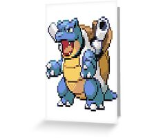 Pixel Blastoise Greeting Card