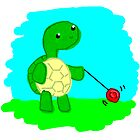 Yoyo Turtle at the Park by Aimée Becker