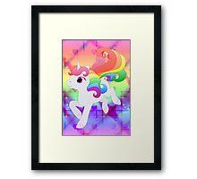 Cute Baby Rainbow Unicorn Framed Print