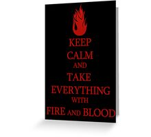 FIRE and BLOOD Greeting Card