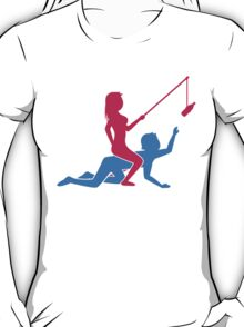 Woman Riding On Man's Back T-Shirt