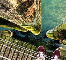 Lake Zurich Under My Feet by jazzwall