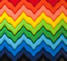 Chevron Rainbow Pencils ipad case by Gillian Cross