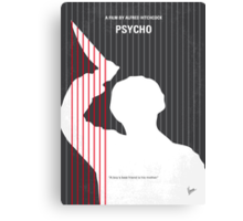 No185 My Psycho minimal movie poster Canvas Print
