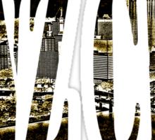 Yinz City: Black/Yellow Highlights Sticker
