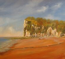 St Margaret's  Bay (towards Dover) by Beatrice Cloake