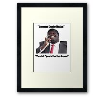 BANK ACCOUNT DETAILS - GEORGE Framed Print