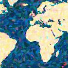 maps pointilism World Map 2 by Adam Asar