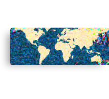 maps pointilism World Map 2 Canvas Print