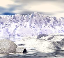 Rogue Igloo On A Fantasy Glacier by Sazzart