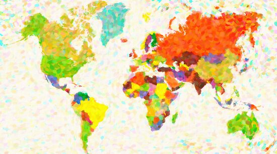 maps pointilism World Map by Adam Asar