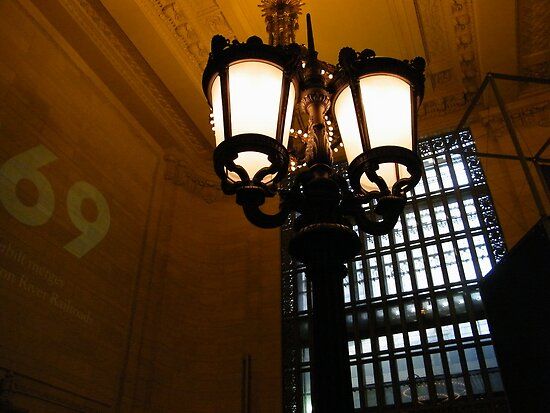 Original Post Light , Grand Central Terminal, Vanderbilt Hall, New York City by lenspiro