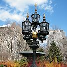 Classic Lamp, City Hall park, Lower Manhattan, New York City by lenspiro