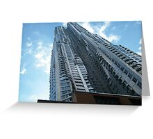 Frank Gehry Apartment Building and Skyscraper, Lower Manhattan, New York City Greeting Card