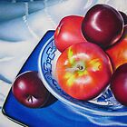 Fruit on blue china by lanadi