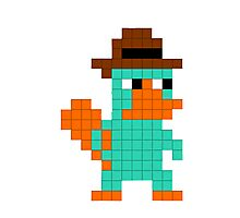 Pixel Perry the Platypus Photographic Print