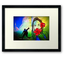 Hawaiin Girl Framed Print