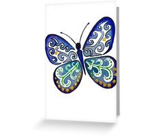 Colorful Tribal Butterfly painting by Artist Christie Marie Elder-Ussher Greeting Card