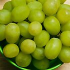 Green Grapes in a Green Bucket by Jay Gross