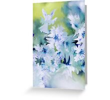 Angel Of Flowers Greeting Card