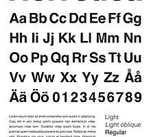 Typography Poster Helvetica Alphabet by Mattias Olsson