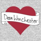 Dean Winchester heart by CharlieS1D