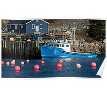 Nova Scotia Fishing Village Poster