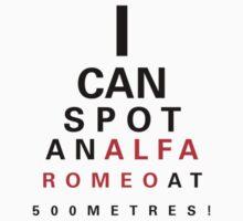 Alfa Romeo Eyechart Kids Clothes