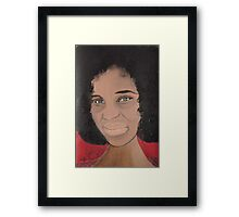 African Woman Acrylic painting Framed Print