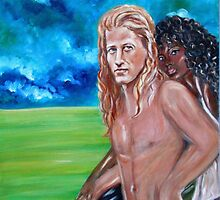 """Vikings in America, B.H."" Interracial Lovers Series by Yesi Casanova"